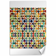Retro Pattern Abstract Canvas 24  x 36