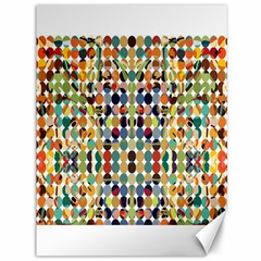 Retro Pattern Abstract Canvas 36  X 48