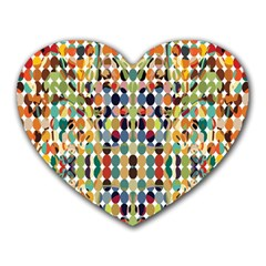 Retro Pattern Abstract Heart Mousepads