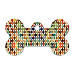 Retro Pattern Abstract Dog Tag Bone (two Sides)