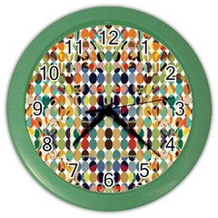 Retro Pattern Abstract Color Wall Clocks