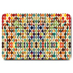 Retro Pattern Abstract Large Doormat