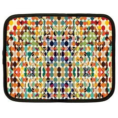 Retro Pattern Abstract Netbook Case (Large)