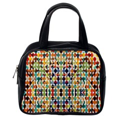 Retro Pattern Abstract Classic Handbags (one Side)