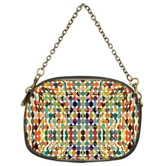 Retro Pattern Abstract Chain Purses (one Side)