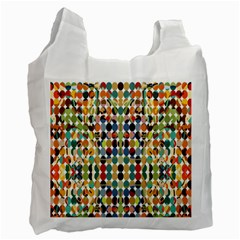 Retro Pattern Abstract Recycle Bag (one Side)