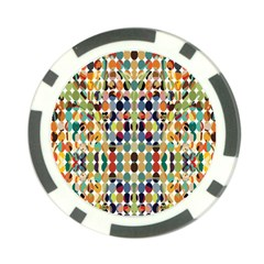 Retro Pattern Abstract Poker Chip Card Guard (10 Pack)