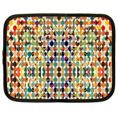 Retro Pattern Abstract Netbook Case (xl)