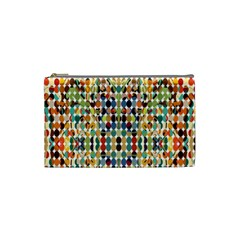 Retro Pattern Abstract Cosmetic Bag (small)