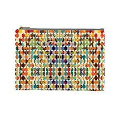Retro Pattern Abstract Cosmetic Bag (large)