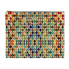 Retro Pattern Abstract Cosmetic Bag (xl)