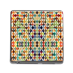 Retro Pattern Abstract Memory Card Reader (square)