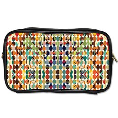 Retro Pattern Abstract Toiletries Bags 2 Side