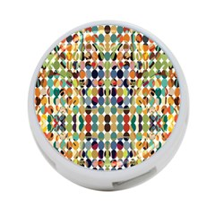Retro Pattern Abstract 4 Port Usb Hub (one Side)