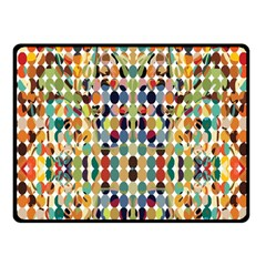 Retro Pattern Abstract Fleece Blanket (small)