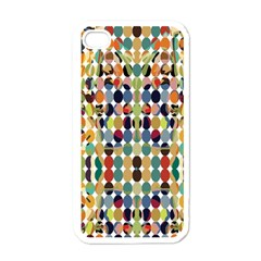 Retro Pattern Abstract Apple Iphone 4 Case (white)