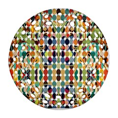 Retro Pattern Abstract Ornament (round Filigree)