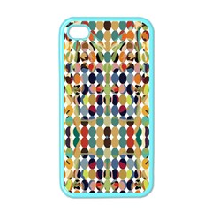 Retro Pattern Abstract Apple Iphone 4 Case (color)