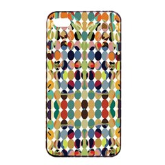 Retro Pattern Abstract Apple Iphone 4/4s Seamless Case (black)