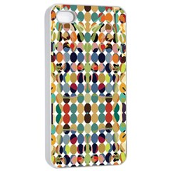 Retro Pattern Abstract Apple Iphone 4/4s Seamless Case (white)