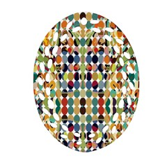Retro Pattern Abstract Oval Filigree Ornament (two Sides)