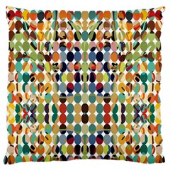 Retro Pattern Abstract Large Cushion Case (one Side)