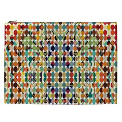 Retro Pattern Abstract Cosmetic Bag (xxl)