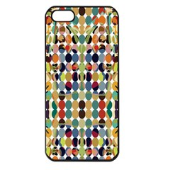 Retro Pattern Abstract Apple Iphone 5 Seamless Case (black)