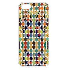 Retro Pattern Abstract Apple Iphone 5 Seamless Case (white)