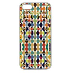 Retro Pattern Abstract Apple Seamless Iphone 5 Case (clear)