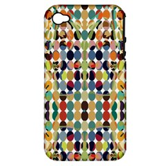 Retro Pattern Abstract Apple Iphone 4/4s Hardshell Case (pc+silicone)