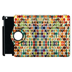 Retro Pattern Abstract Apple Ipad 2 Flip 360 Case