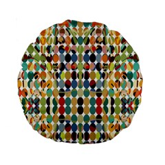 Retro Pattern Abstract Standard 15  Premium Round Cushions