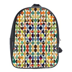 Retro Pattern Abstract School Bags (xl)