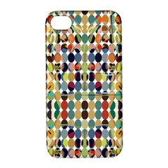 Retro Pattern Abstract Apple Iphone 4/4s Hardshell Case With Stand