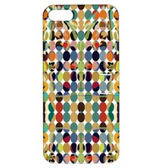 Retro Pattern Abstract Apple Iphone 5 Hardshell Case With Stand