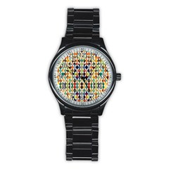 Retro Pattern Abstract Stainless Steel Round Watch