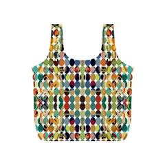 Retro Pattern Abstract Full Print Recycle Bags (s)