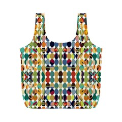 Retro Pattern Abstract Full Print Recycle Bags (m)