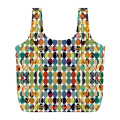 Retro Pattern Abstract Full Print Recycle Bags (l)