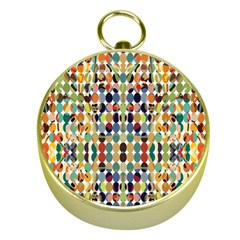 Retro Pattern Abstract Gold Compasses