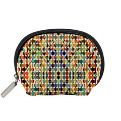 Retro Pattern Abstract Accessory Pouches (small)