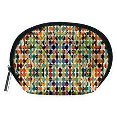 Retro Pattern Abstract Accessory Pouches (medium)