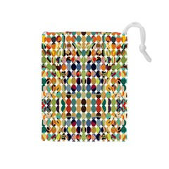 Retro Pattern Abstract Drawstring Pouches (medium)