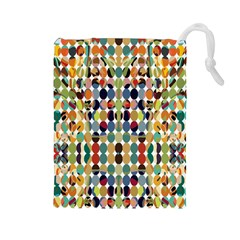 Retro Pattern Abstract Drawstring Pouches (large)