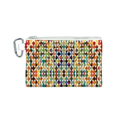 Retro Pattern Abstract Canvas Cosmetic Bag (s)
