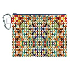 Retro Pattern Abstract Canvas Cosmetic Bag (xxl)
