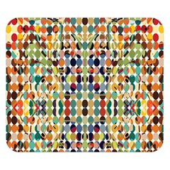 Retro Pattern Abstract Double Sided Flano Blanket (small)
