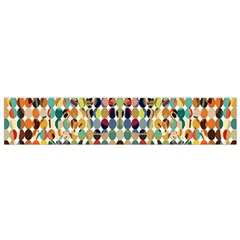 Retro Pattern Abstract Flano Scarf (small)