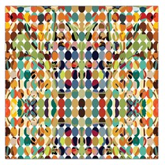 Retro Pattern Abstract Large Satin Scarf (square)